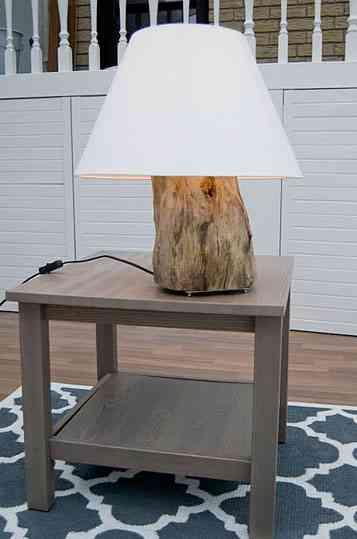 Una lámpara, ¡con un tronco! 1