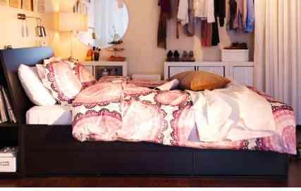 Cat logo ikea oppdall cama con cajones decoraci n de for Cajones bajo cama ikea