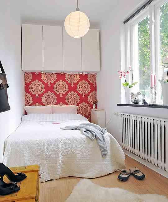 Un cabecero de papel pintado decoraci n de interiores - Cabecero papel pintado ...