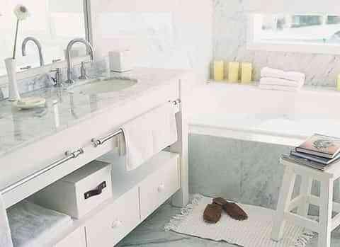 Baños decorados y organizados 1