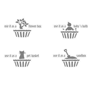 usos del contenedor con forma de madalena