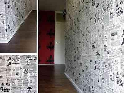 Papel de peri dico para empapelar decoraci n de for Papel para empapelar paredes