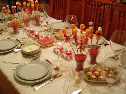 Soluci n para la mesa de navidad decoraci n de - Manualidades para decorar la mesa en navidad ...