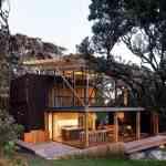 Mansión de madera con grandes ventanales de Herbst Architects 5