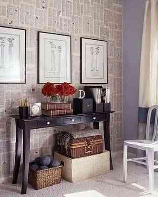 Papel de periódico en las paredes 4