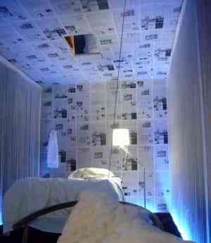 Papel de periódico en las paredes 1
