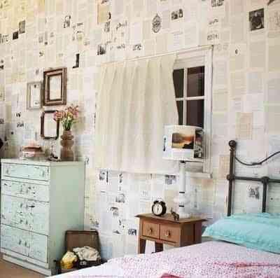 Papel de periódico en las paredes 2