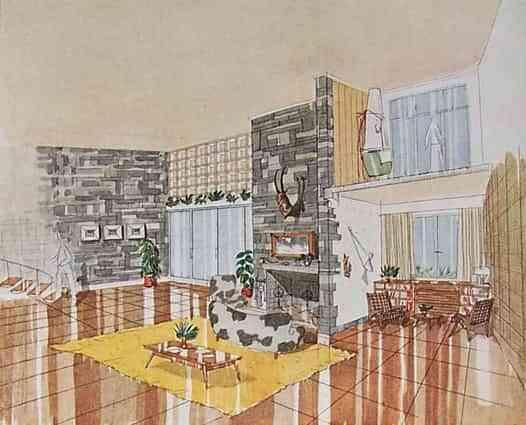 Una casa de diseño de 1954 1