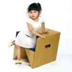 S-cube la silla multifunción de cartón de Miso Soup Design 3