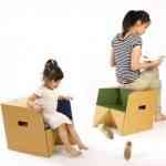 S-cube la silla multifunción de cartón de Miso Soup Design 1