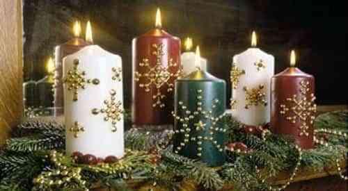 Decora tu navidad con velas 2 decoraci n de interiores - Adornos navidenos con velas ...