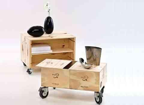 Muebles en cajas de madera decoraci n de interiores for Muebles con cajas de madera