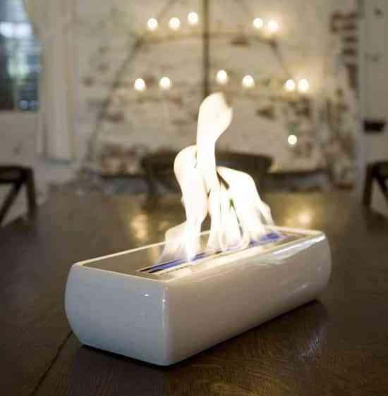 Preciosas chimeneas de mesa para veladas invernales - Chimenea de mesa ...