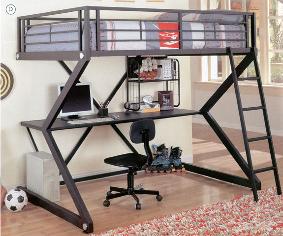 Cama en alto con escritorio un dise o original blog - Cama en alto ...