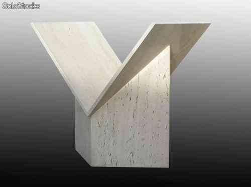 Pie de mesa en mármol travertino romano - Decoración de Interiores ...