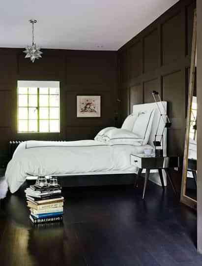 Blanco y tonos oscuros: habitaciones con estilo 1
