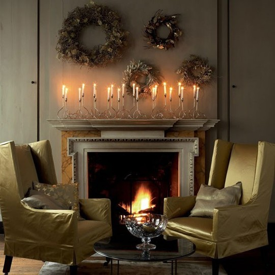 Ideas para decorar la chimenea en navidad decoraci n de - La chimenea decoracion ...