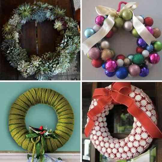 Ideas para hacer coronas de navidad decoraci n de - Ideas para decorar estrellas de navidad ...