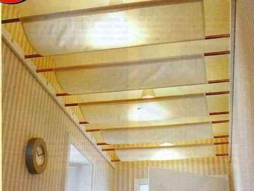 Hacer con tela un falso techo decoraci n de interiores for Papel para techos exteriores