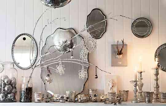 Espejos y plateado, una buena opción para decorar 1
