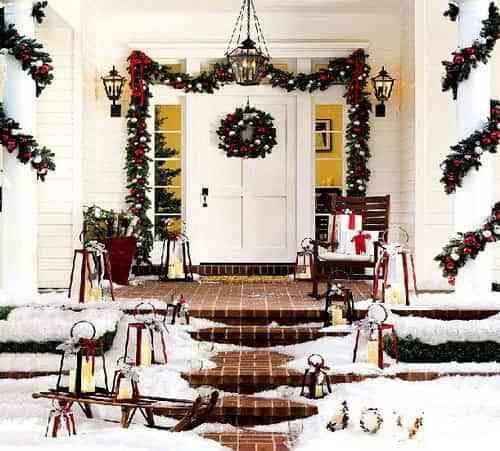 En Navidad, decora por fuera 2