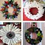 Ideas para hacer coronas de Navidad 7