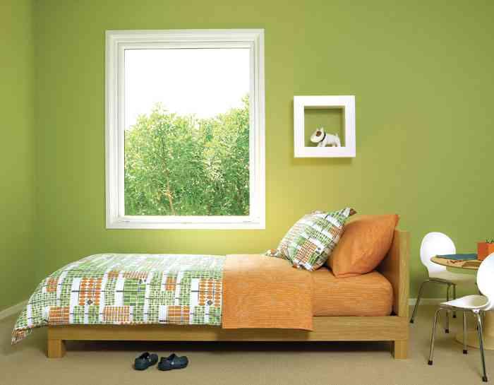 Paredes mon tonas paredes monocromas decoraci n de for Techos y paredes verdes