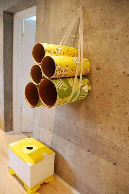Decorar con tubos de carton