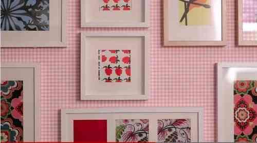 Cómo hacer cuadros con tejidos - Decoración de Interiores   Opendeco