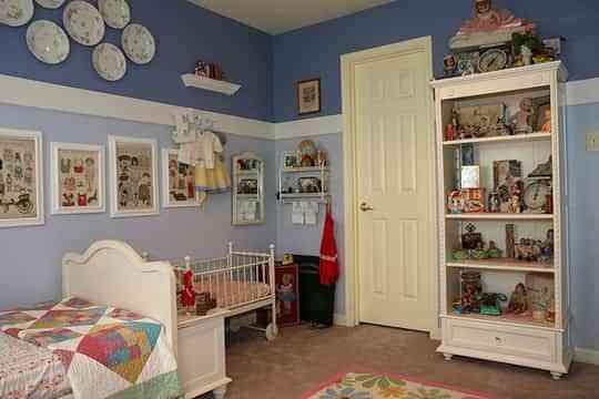 Habitaciones En Dos Colores Decoracion De Interiores Opendeco - Pintar-paredes-de-dos-colores