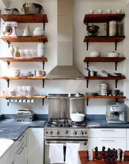 Aprovechar espacio en una cocina peque a decoraci n de - Aprovechar espacio cocina ...