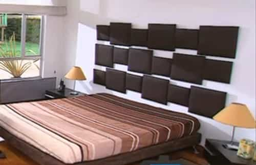 Cómo hacer un cabecero tapizado para la cama - Decoración de ...