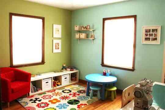 Habitaciones en dos colores decoraci n de interiores - Paredes pintadas de dos colores ...