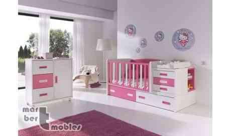 Ideas para decorar la habitación del bebé con cunas convertibles 3