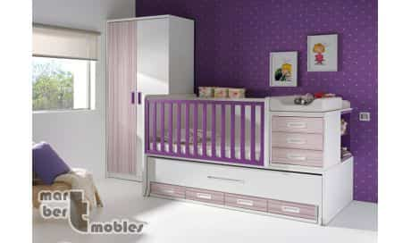 Ideas para decorar la habitaci n del beb con cunas - Habitacion convertible bebe ...