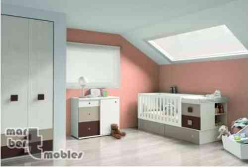 Ideas para decorar la habitación del bebé con cunas convertibles 1