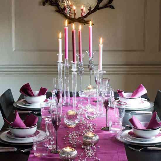 Ideas para una mesa en fucsia y negro | openDeco. Decoración e ...