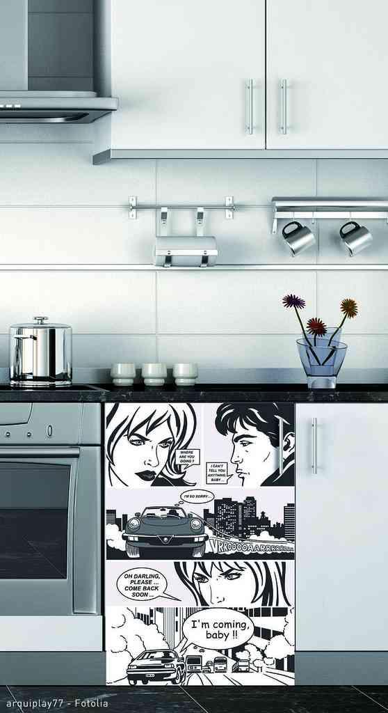 Ideas sorprendentes para decorar la cocina con vinilos - Cocinas con vinilos ...