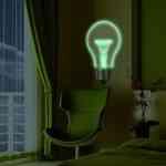 Decoración con lámparas que no alumbran, aunque algunas iluminan un poco 3