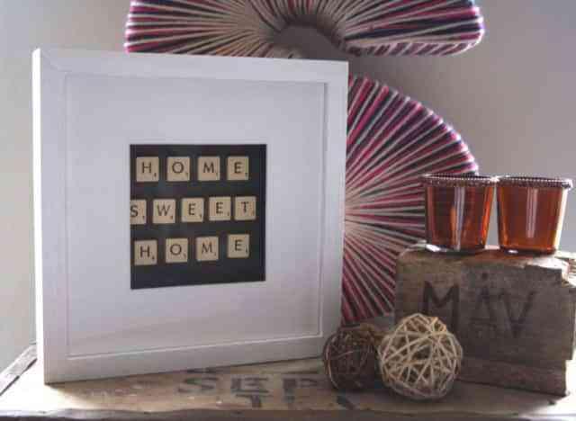 Convierte el scrabble en un cuadro decoraci n de - Velas letras scrabble ...