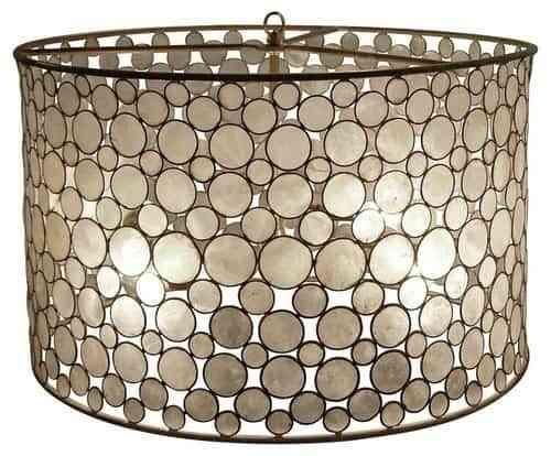Oly Studio Serena Drum Pendant eclectic pendant lighting