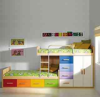 Ingenio en los dormitorios decoraci n de interiores - Dormitorios infantiles literas ...