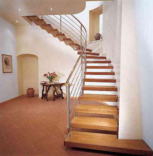 Escaleras en voladizo decoraci n de interiores opendeco - Modelos de escaleras de casas ...