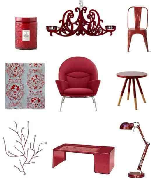El rojo, un color a la última para decorar 1