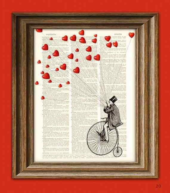 Un regalo para San Valentn muy decorativo Decoracin de