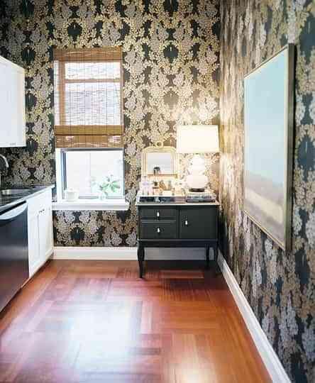 Papel pintado en la cocina, ¿una buena idea? 6