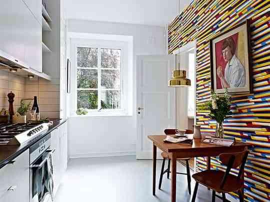 Papel pintado en la cocina, ¿una buena idea? - Decoración de ...