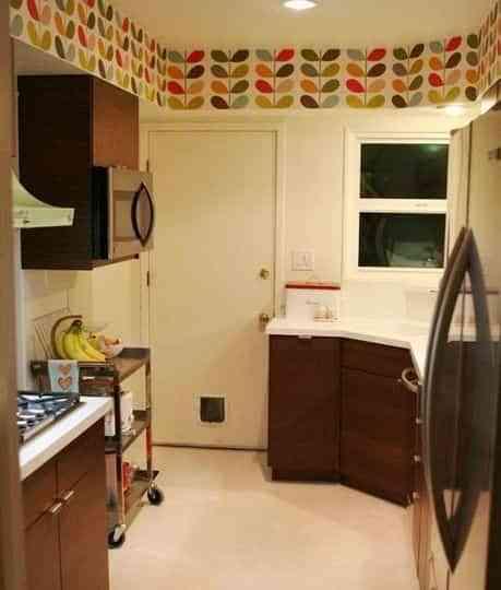 Papel pintado en la cocina, ¿una buena idea? 2