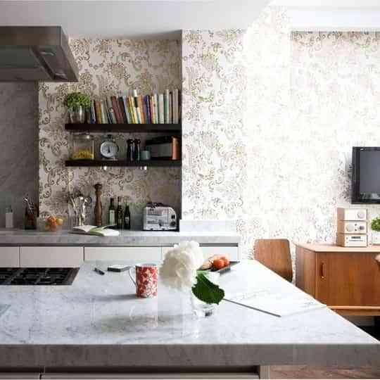 Papel pintado en la cocina, ¿una buena idea? 1