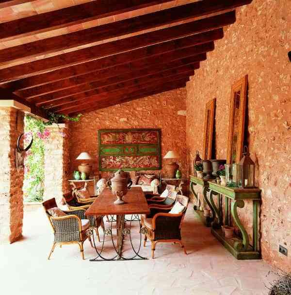 Un porche con mucho estilo decoraci n de interiores - Como decorar un porche abierto ...
